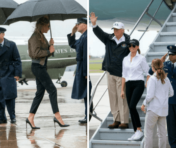 Melania Trump Harvey Diaster Clothing Disaster