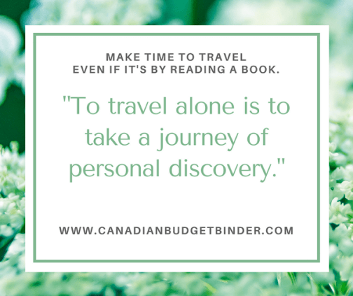 TRAVEL ALONE PERSONAL DISCOVERY JOURNEY life quote