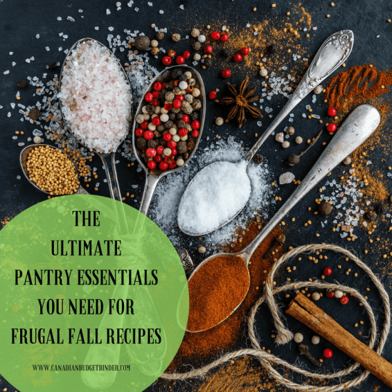 THE ULTIMATE PANTRY LIST FOR FRUGAL FALL RECIPES