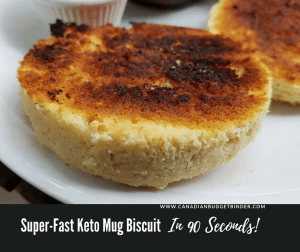 Super-Fast KETO Mug Biscuit In 90 Seconds