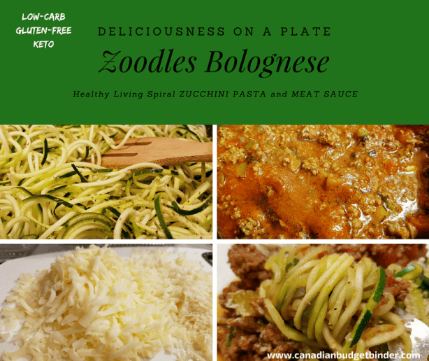ZUCCHINI PASTA ZOODLES BOLOGNESE fb3