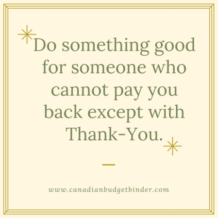 do something good for someone who cant pay you back quote