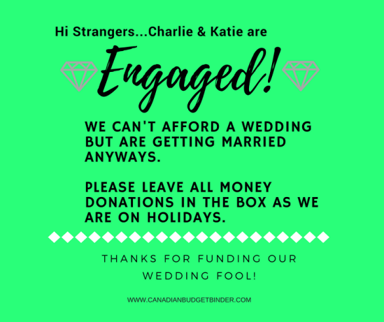 wedding donations quote