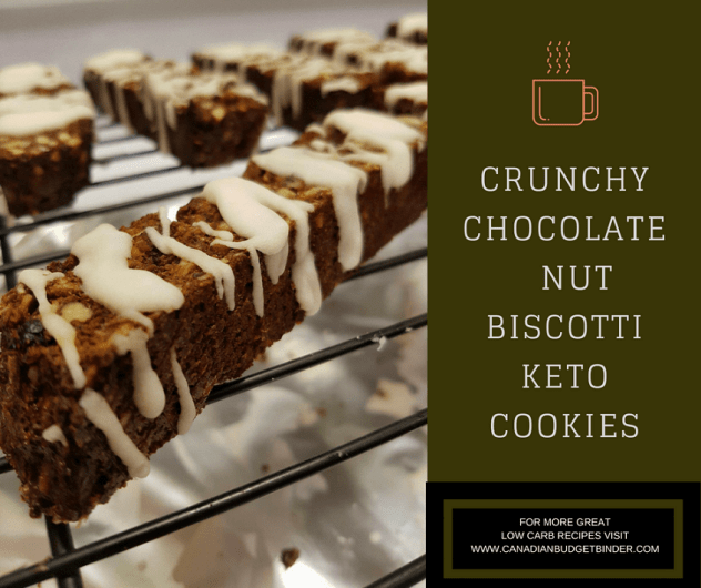 CRUNCHY CHOCOLATE NUT BISCOTTI KETO COOKIES