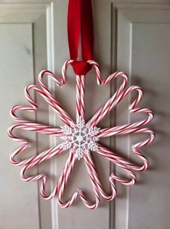 candy canes Door Ornament Christmas-1