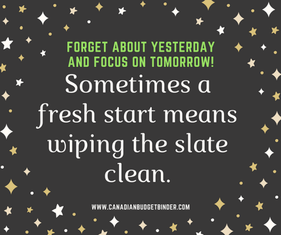 Forget about yesterday and focus on tomorrow! quote