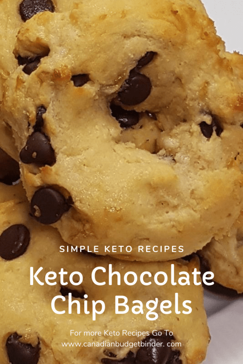 keto chocolate chip bagels