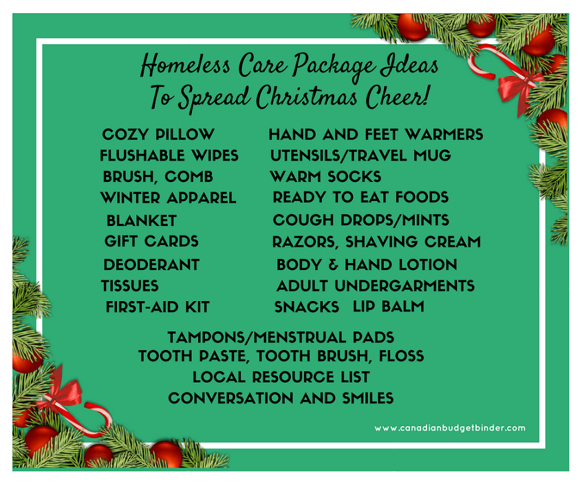 Homeless Care Package Ideas To Spread Christmas Cheer