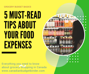 5 must read tips about your food expenses canadian budget binder