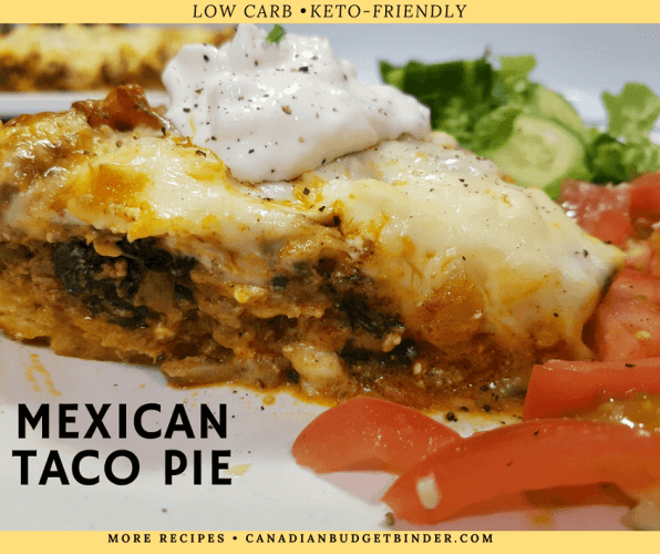 MEXICAN TACO PIE-keto