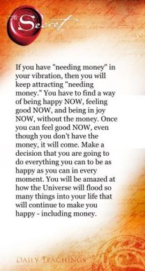 money and the law of attraction