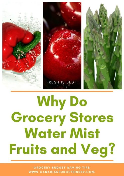 Water Mist Fruits and Vegetables Grocery Stores