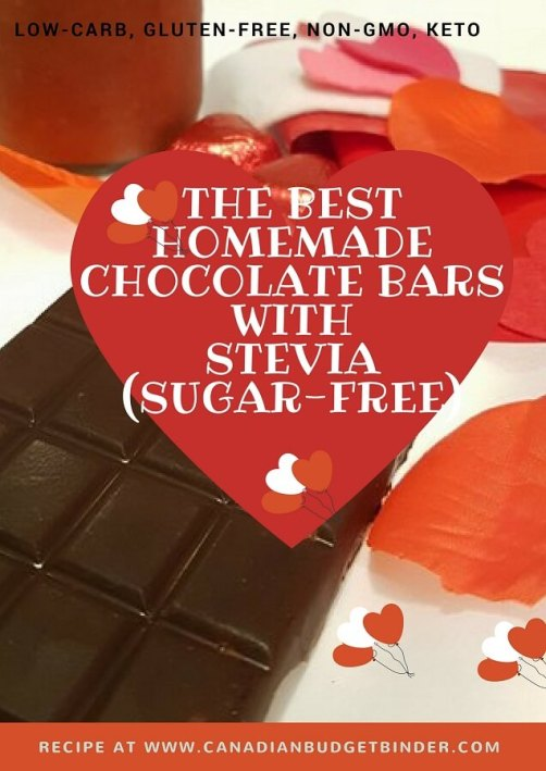 homemade low carb sugar free chocolate bars made with steviahomemade low carb sugar free chocolate bars made with stevia