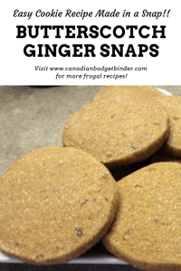 Sugared Butterscotch Ginger Snaps