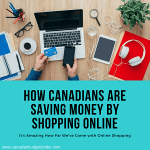 how canadians are saving money by shopping online