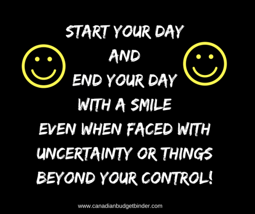 start and end your day with a smile