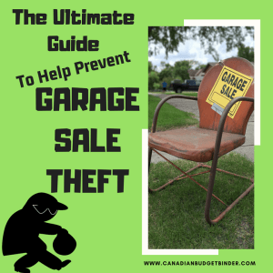 The Ultimate Guide To Prevent Garage Sale Theft : The Saturday Weekend Review #255