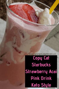 Copycat Starbucks Strawberry Acai Pink Drink Keto Style