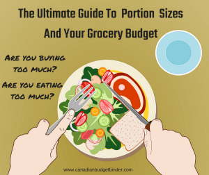 The Ultimate Guide To Portion Sizes And Your Grocery Budget