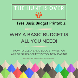 WHY A BASIC BUDGET IS ALL YOU NEED!