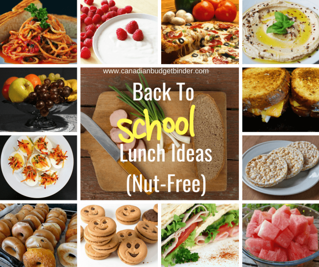 Back To School Lunch Ideas(Nut-Free)