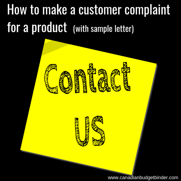 How to make a customer complaint for a product