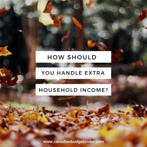 how should you handle extra extra household income