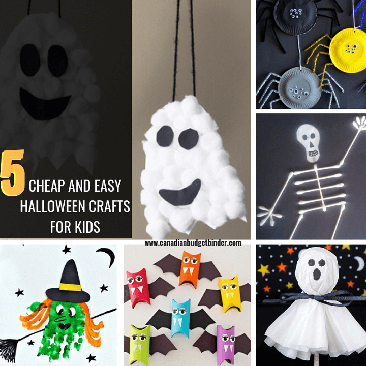 5 CHEAP And EASY Halloween Crafts Kids Can Make At Home : The Saturday Weekend Review #265