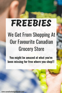 FREEBIES at our favourite Canadian grocery store