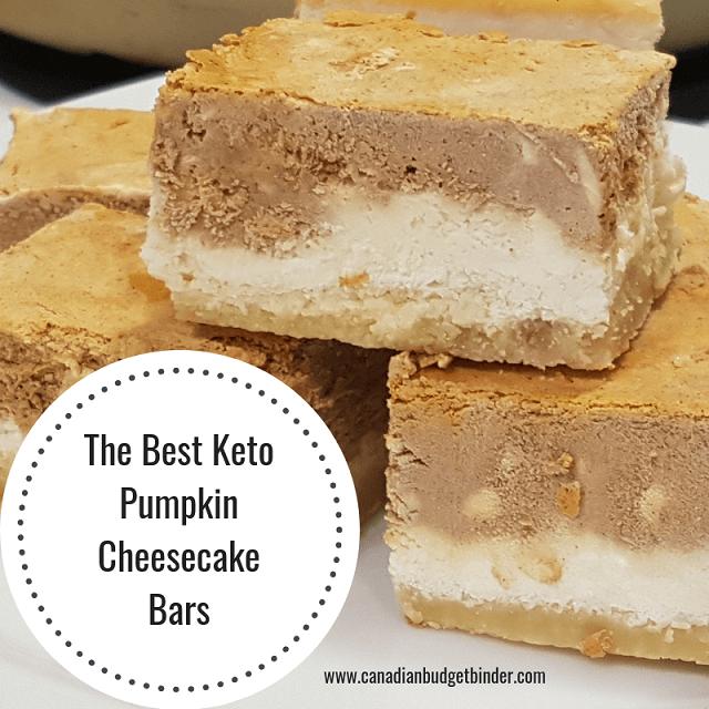The Best Keto Pumpkin Cheesecake Bars