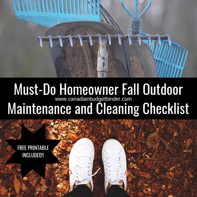 Must-Do Homeowner Fall Outdoor Maintenance and Cleaning Checklist