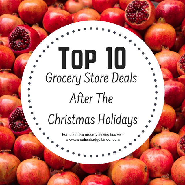 After Christmas Deals.Top 10 Grocery Store Deals After The Christmas Holidays