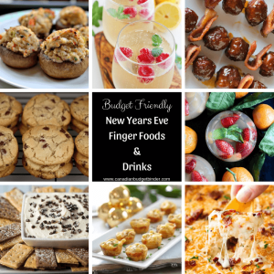 Budget Friendly New Years Eve Finger Foods and Drinks