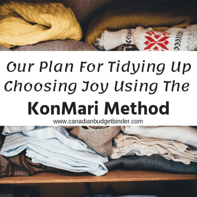 Tidying Up Choosing Joy Using The KonMari Method