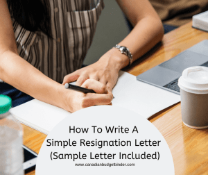 How To Write A Simple Resignation Letter (Sample Letter Included)