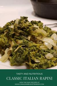 tasty classic italian rapini broccoli rabe recipe