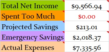 February 2019 Month Income and Expenses