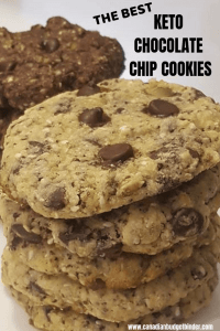 The BEST KETO CHOCOLATE CHIP COOKIES cover