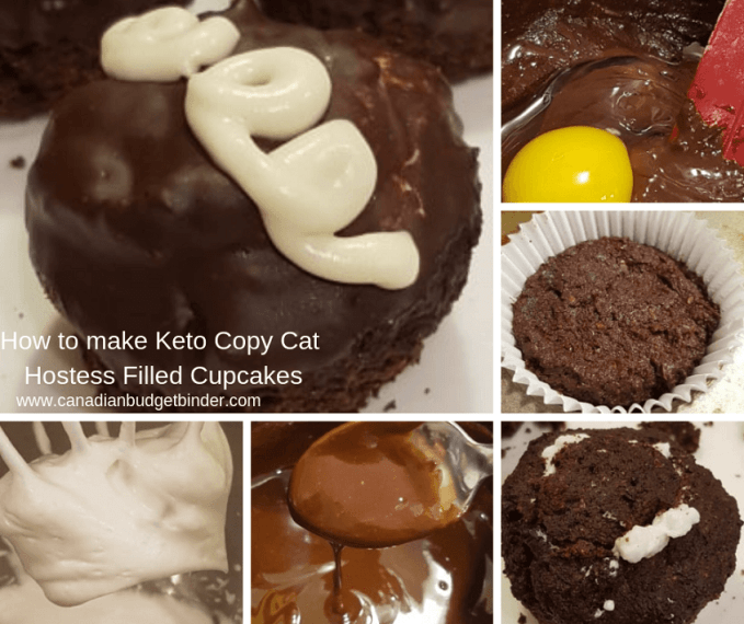 HOW TO MAKE COPY CAT KETO HOSTESS CREAM FILLED CUPCAKES 7
