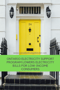 Ontario Electricity Support Program for Low Income Consumers