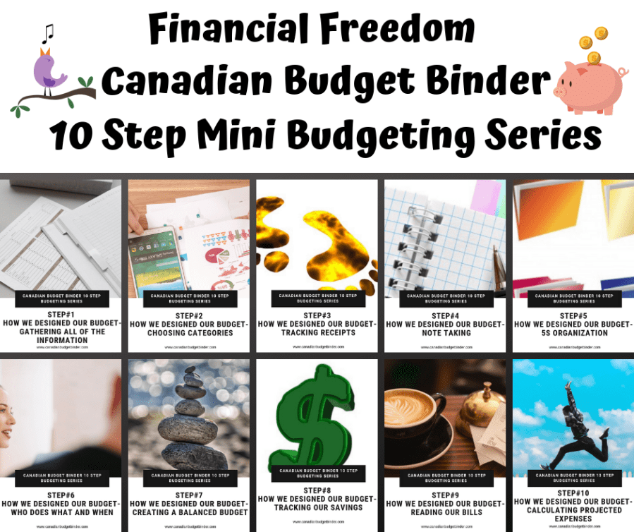 Steps to Financial Freedom 10 Step Budgeting Series on Canadian Budget Binder