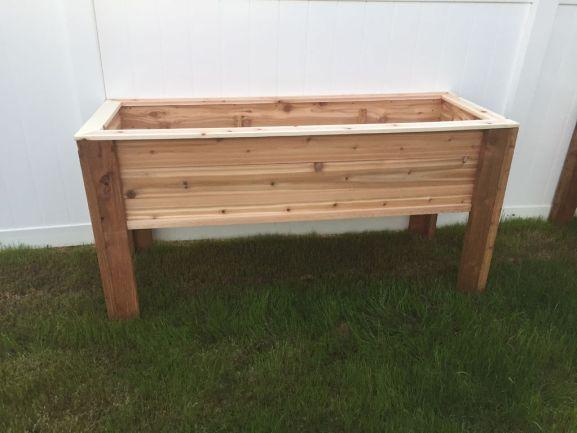 elevated raised planter box