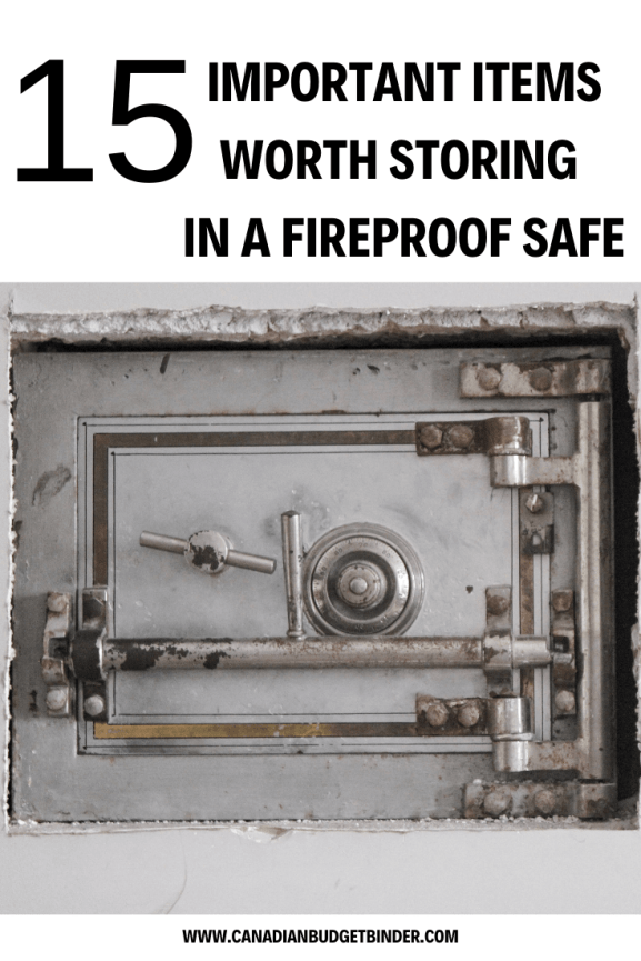 15 items worth storing in a fireproof safe