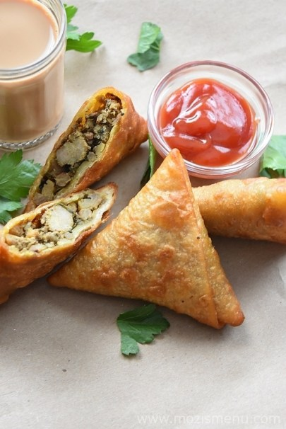 indian chicken samosa