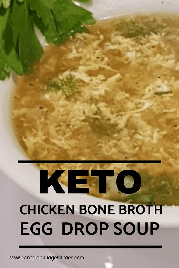 Easy Egg Drop Soup In Chicken Bone Broth (Keto)
