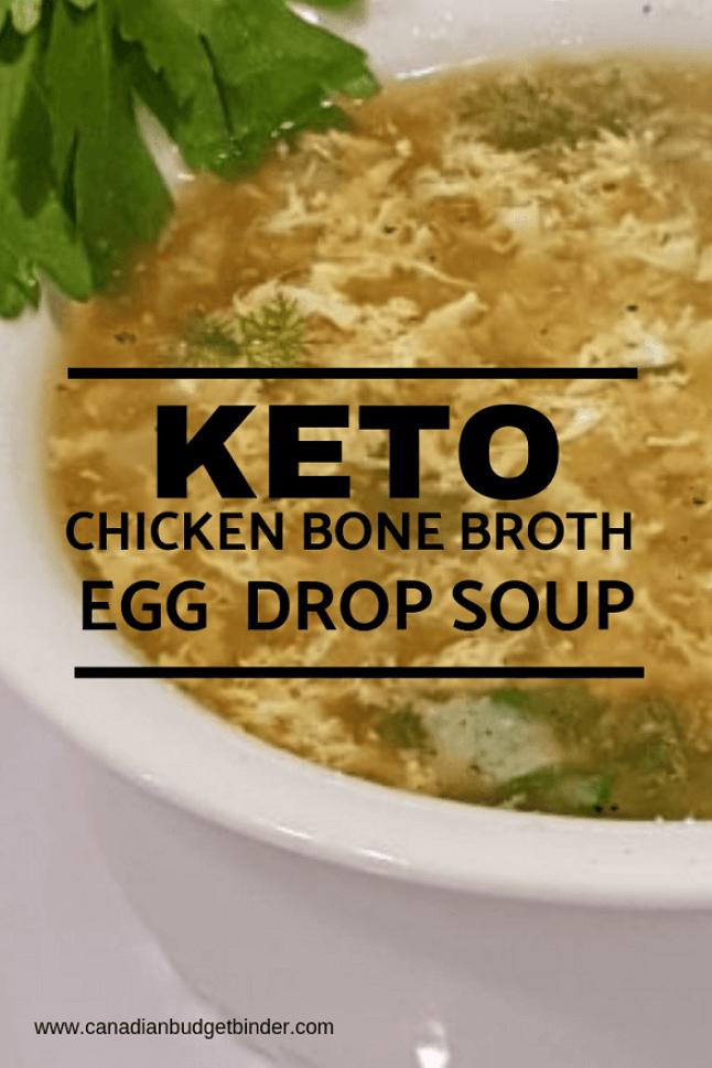 keto chicken bone broth egg drop soup