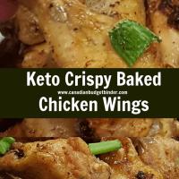Keto Crispy Baked Chicken Wings-6
