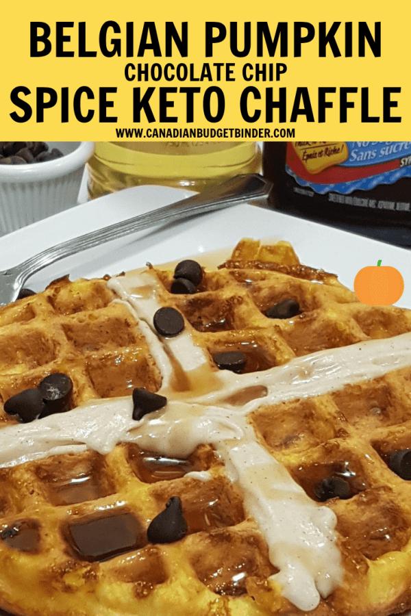 Pumpkin Chaffle Waffles