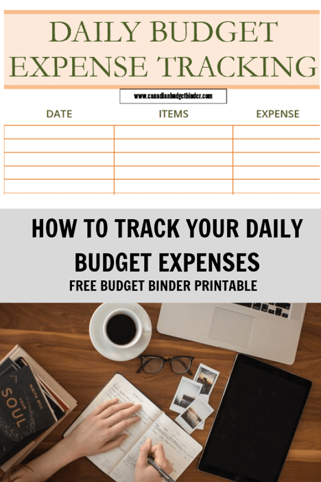 Daily budget expenses printable