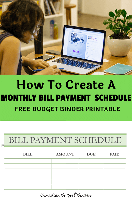 payment schedule printable